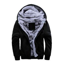 Wholesale Lined Hoodie Xl Black - S5Q Mens Winter Cardigan Sweater Wool Lining Hoodie Knitted Jacket Casual Coat AAAEIN