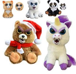 Wholesale Kids Pets Toys - Feisty Pets Change Face Unicorn Plush Toys for children With Funny Expression Stuffed Animal Dolls Christmas Kids Toys KKA3504