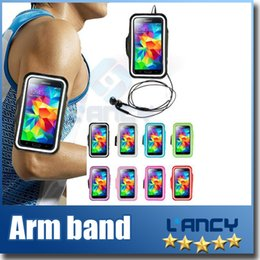 Wholesale Wholesale Leather Arm Bands - For Iphone 6 Waterproof Sports Running Armband Case Workout Armband Holder Pounch For iphone Cell Mobile Phone Arm Bag Band