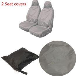 Wholesale Nylon Tracks - 2pcs Universal Car Nylon Heavy Duty Waterproof Grey Front Seat Covers Protectors order<$18no track