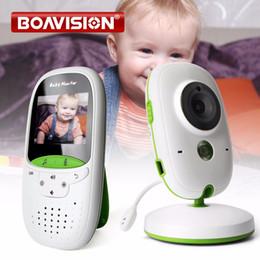 Wholesale wireless video intercom monitors - 2.0 Inch Wireless Baby Monitor IR Night Vision Temperature Monitor Lullabies Intercom VOX Mode Video Security Camera VB602