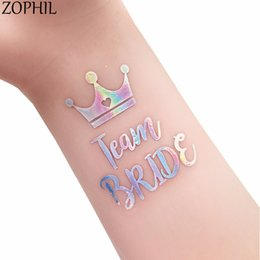 Wholesale Bridal Shower Gifts Bride - ZOPHIL Tattoos Wedding Decoration Favors Event Party DIY Accessories Supplies Mr Mrs Bridal Shower Sticker Team Bride to be Gift