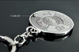 Wholesale Antique Bronze Alloy Key - 1Pcs Super Perpetual Unique Metal Ring 50 Years Perpetual Calendar Key Chain