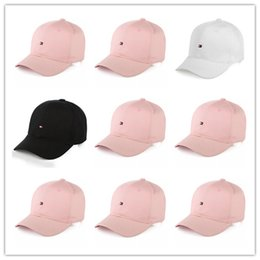 strapback fitted caps Coupons - New Design hot The Brand Snapback Caps 3 Colors Strapback Baseball Cap Bboy Hip-hop polo Hats For Men Women Hat Black Pink White