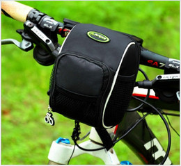Wholesale Folding Bicycle 16 - Bicycle First Bag Skateboard Front Bag Folding Bicycle Handlebar Bag Cycling Equipment Accessories Black Bicycle Mobile Phone Bag 16*12*11cm