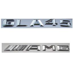 Canada Autocollant d'emblème d'insigne de tronc de lettres de nombre de chrome ABS pour Mercedes Benz GLA45 AMG Offre