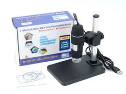 Wholesale Software Wholesalers - 1 to 500x continuous zoom USB Digital Microscope + holder(new) for electronic repair , 8-LED Endoscope with Measurement Software