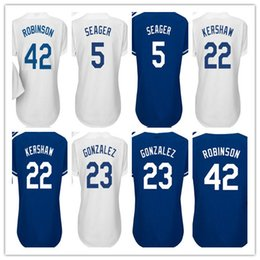 Wholesale Ladies Shorts 16 - 22 Clayton Kershaw Womens Jersey 2017 Los Angeles Ladies 5 Corey Seager 42 Jackie Robinson 23 Adrian Gonzalez 16 Andre Ethier Jerseys Shirt