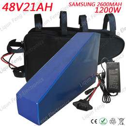 Wholesale Kit Motor Electric Bike - Great Triangle Electric Bike Battery 48V 21AH for Samsung cell lithium ion for 1000W 1500W 2000W Motor E-bike Scooter kit + Bag