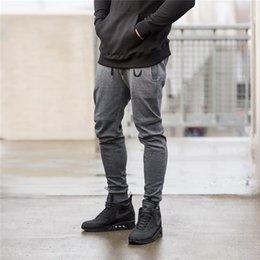 Wholesale Leisure Harem Pants Men - Gym Leisure Jogger Pants Solid Color Skinny Joggers Men New Fashion Harem Pants Sweat Pants Men Sport Trousers