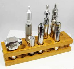 E cig stand madeira on-line-Madeira e cig vitrine de cigarro eletrônico suporte de prateleira rack para ego bateria vaporizador ecigs mecânicos mod eliquid garrafa de exibição