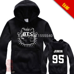 Wholesale Hoodie Promotion - Wholesale- Promotion Real Moleton Tracksuits Men Sport Suits Bts Bangtan Boys Basketball Hoodies With The Money And Women Hedging 010