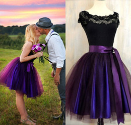 Wholesale Orange Tutu Skirts For Adults - Party Skirts High Waisted 2016 New Deep Plum Adult Tutu Skirt For Womens Aubergine Tulle Skirt Lined In Deep Purple