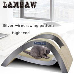 Wholesale Pet Papers - Cat Scratcher Big Size luxury corrugated paper cardboard pad lounge hammock for several cats pet toy supplies-Gray Color