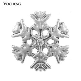 Wholesale Snowflake Buttons - Vocheng Noosa Snowflake Chunk Snap Button DIY Noosa Accessories for Jewelry (Vn-192)