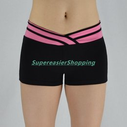 Wholesale Sexy Women S Sports Jerseys - High Quality Fashion Women Stretched Beach Short Pants Fitness Gym Yoga Running Sports Pants Special Sexy V Shape Waist Design Skinny Shorts