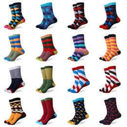 Wholesale Colorful Over Knee Socks - Wholesale-hot sale casual new style men's combed cotton colorful socks brand man dress knit socks free shipping us size(7.5-12)