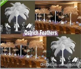 Wholesale Eiffel Centerpieces - Prefect Natural white Ostrich Feather wedding Eiffel Centerpieces Wedding Party Decoration many size to choose TXX25