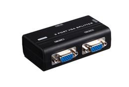 Booster-adapter online-2 Port 250 MHz Hohe Auflösung 1920X1440 PC VGA KVM-Switch Videosignal-Monitor Splitter Booster Extender Verstärkeradapter Schwarz