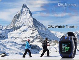 Wholesale Gps Sos Call Function - GPS Watch Tracker GSM GPRS Personal Wrist Tracking System SOS Function anti lost elderly and children can play phone