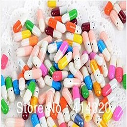 Wholesale Message Pills - Wholes Lots of 1000pcs! Multiple 10 Colors Korea Drama A Millionaire's First Love Pills capsule, Message Pills,valentine Gift