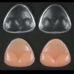 Inserciones de traje de baño online-Silicona Pecho Pad Invisible Adhesivo Sujetador Sujetador Breast Underwear Pad Verano Mujer Traje de Baño Intimates Pecho Pad 500 unids OOA3763