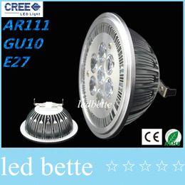 Wholesale E26 Led 14w - AR111 Led G53 E27 GU10 14W 18W Led Spotlights ceiling lamp Dimmable warm cool white 60 beam angle 110V 220V CE ROHS
