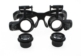 Wholesale Magnifying Glass Lamps - 5-25 4 kinds of multiple dual head-mounted magnifying goggles, glasses type magnifier with LED lights work, field trips to enlarge glasses