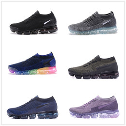 Wholesale Woven Casual Shoes - New VaporMax Running Shoes Weaving racer Ourdoor Athletic Sporting Walking Sneakers for Women Men Fashion pink Casual maxes Size 36-45