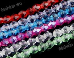 Wholesale Bicone Mixed - Hot ! Mix color Faceted Crystal Bicone Beads 4mm   6mm  8mm Loose beads DIY Jewelry