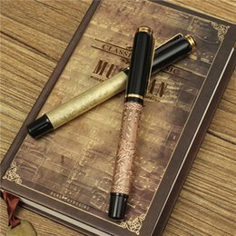 Wholesale Horses Track - 2015 New Arrival High Quality BAOER 507 EIGHT HORSES Silver And Golden High-Grade Fountain Pen order<$18no track
