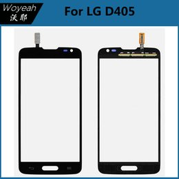 Wholesale Lg Optimus New - For Black LG Optimus L90 D405 New Touch Screen Digitizer Glass Len Replacement Parts Cell Phone Parts