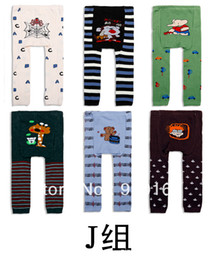 Wholesale Girls Tights Group - Wholesale-wholesale Yuelinfs animal toddler wear for boy and girl K Group J Group PP pant baby tight 18pcs lot