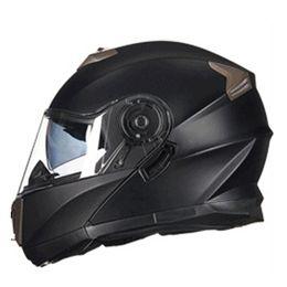 Wholesale White Black Motorcycle Helmet - Vcoros winter Flipup Motorcycle helmet Anti-fog lens full face Racing motorbike helmet Double Sun viso Modular locomotive helmet
