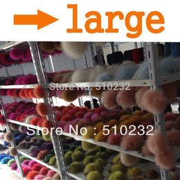 Wholesale Beanie Shoes Men - Wholesale-Wholesale Free Shipping large 14-15cm raccoon fur ball fur pom poms for winter men's skullies hat coat and shoes accessories