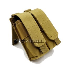 Wholesale Bag For Pistol - Tactical Molle Clip Double Mag Magazine Pouch Bag Pistol Magazine Pouch Cartridge Clip tool Pouch For USUG 30 RD AK Pistol