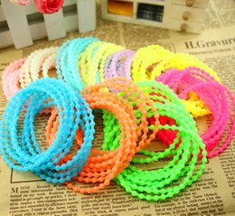 Wholesale Candy Charms For Bracelets - Sports bracelets Silicone Night Luminous with scent Sweet Candy Cute Bowknot And Solid Color Style for men women girls Mix 100pcs lot BI17