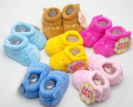 Wholesale Winter Proof - Cotton Baby Shoes Unisex Soft Sole Skid-proof Kids girl infant Shoe First Walkers,prewalker 0-12 Months