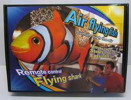 Wholesale Kit Fly Rc - Air Swimmers 1pcs Flying Clownfish Shark Nemo Flying Remote Control RC Fish free shipping