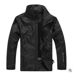 Wholesale Waterproof Jacket 5xl - Hot Sale Spring Autumn new Men's Outdoor Sport jacket Men Fashion hooded jacket Men Windbreaker Zipper Waterproof Coats Mountaineering suit