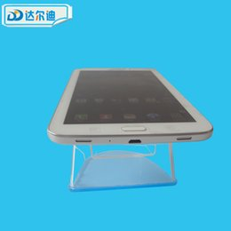 Wholesale Tablet Pc Alarm - Acrylic Tablet PC Display Stand Holder Bracket Phone Store Alarm Anti-Theft Security Exhibition U Shaped White Transparent Clear DRD-AC007