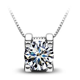 Wholesale Crystal Necklace Sale Online - Cheap silver jewelry for sale silver pendant necklaces for women Crystal pendants necklace Jewelry wholesale online- 0225WH