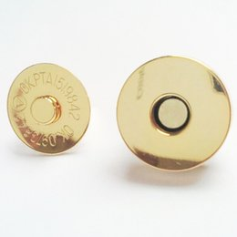Wholesale A3 Bags - 18mm thin Gold Bag closure magnetic button snap fastener button magnets for wallets,leather,bags A3