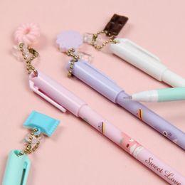 Wholesale totoro pen - Macaron Color Pendant Gel Pen Cute My Neighbor Totoro Pens Stationery Kawaii Pen Gel Ink Pen