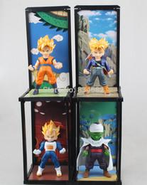 Wholesale Action Buddy - J.G Chen 2015 New Dragon Ball Z Tamashii Buddies Super Saiyan Trunks Vegeta Son Goku Piccolo PVC Action Figures Toys 4pcs Set