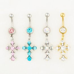Wholesale Mix Body Jewelry Acrylic - 0550-1 body jewelry Nice style Navel Belly ring 10 pcs mix colors stone drop shipping factory price