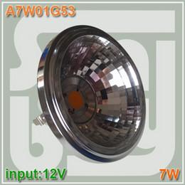 Wholesale led reflector 12v - Free Shipping LED AR111 reflector COB Chip 7W 12V G53 LED Ceiling Light Spotlight Lamp bulb