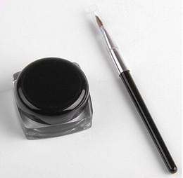 Wholesale Gel 12 Pcs - Brand new Black Waterproof Eye Liner Eyeliner Gel Makeup Brush ( 12 pcs in a box)