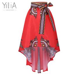 Wholesale Flared Skirt High Waist - Dashiki Skirt African Print Clothing 2017 Boho Summer Beach Maxi Skirts Vintage Flare High Waist Tribal Print Jupe Longue Femme q171125