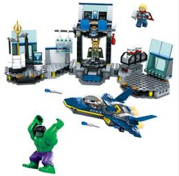 Wholesale Superheroes Toys For Boys - SY328 The avengers 2 Ultron Superheroes Hulk Thor Counterattack Scenes Building Blocks Toys For Boys Bricks